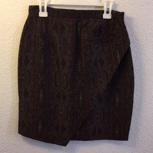 Jessica embroidered prints mini skirt